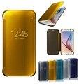 Зеркало Smart View Флип Case Cover для Samsung Galaxy S5 S6 S7 Edge Plus примечание 4 5 C5 C7 J3 J5 J7 A3 A5 A7 ON5 Окно Роскошный новый