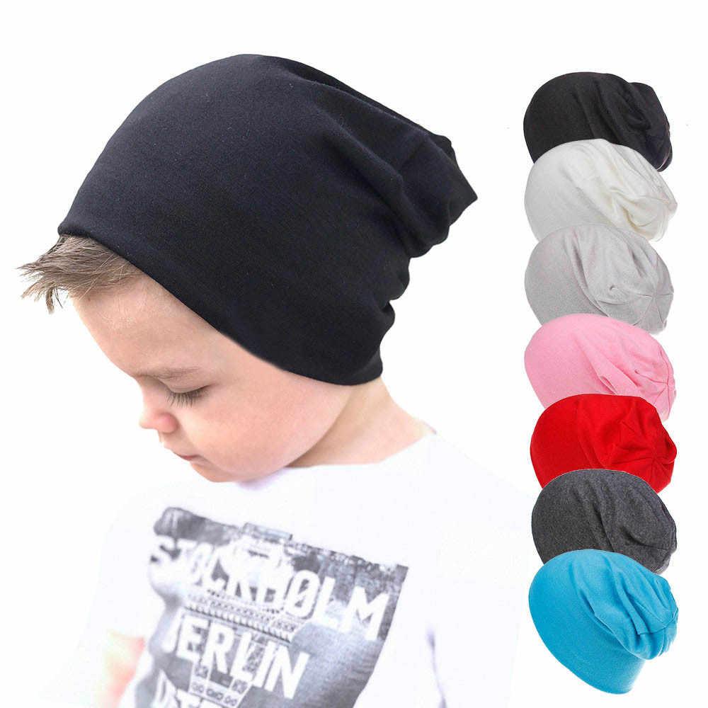 86b64237df2 2018 Autumn Toddler Baby Boy Girl Solid color Infant Cotton Soft Hip Hop Hat  Beanie Cap