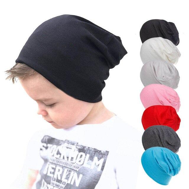 Осень 2018 г. для маленьких мальчиков и девочек одноцветное Цвет младенческой хлопок Мягкий хип хоп шляпа, Круглая Шапочка без полей, кепка Gorro Beanie De Bebe YJJ34 *