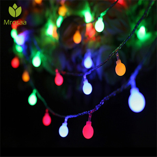 mrosaa 2040leds waterproof outdoor multicolor led string lights hanging christmas light holiday wedding party