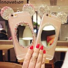 Innovation Bling Diamond Mirror Case For Samsung Galaxy J5 2016 J510FN J510F J510G Rhinestone Glitter TPU Soft Phone Cover