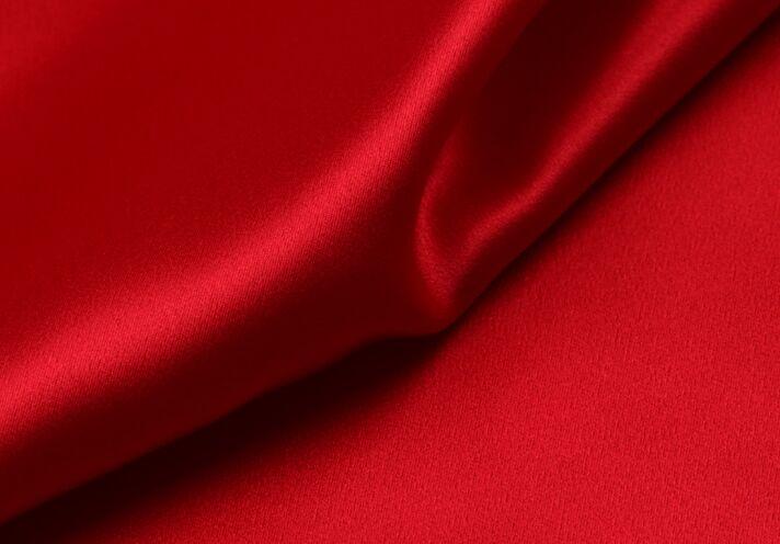 Howmay 100% النقي الحرير charmeuse الحرير نسيج 30 متر/شهر 114 سنتيمتر الأحمر 06 # وخاصة الوزن الثقيل لفستان أو شيونغسام-في قماش من المنزل والحديقة على  مجموعة 1