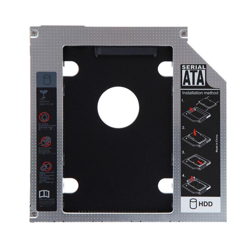 Hot selling magnesium alloy 2nd 9.5mm SATA HDD SSD Hard Drive Caddy Bay for Mac Book pro Notebook hard disk drive bay nickel bay nick