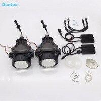 LED Reflektory Samochodowe Auto reflektorów Obiektywu Hi/Lo Beam Lampa H4 Q5 H5 DOPROWADZIŁY Światła Z Projektora 100 W 11600LM Dla Pojazdów SUV-Jeden Zestaw