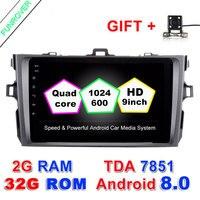 2 DIN Android 8.0 автомобильный DVD Авторадио gps-навигация 8 дюймов рулевом колесе для Toyota Corolla 2007 ~ 2011 в тире Navi RDS