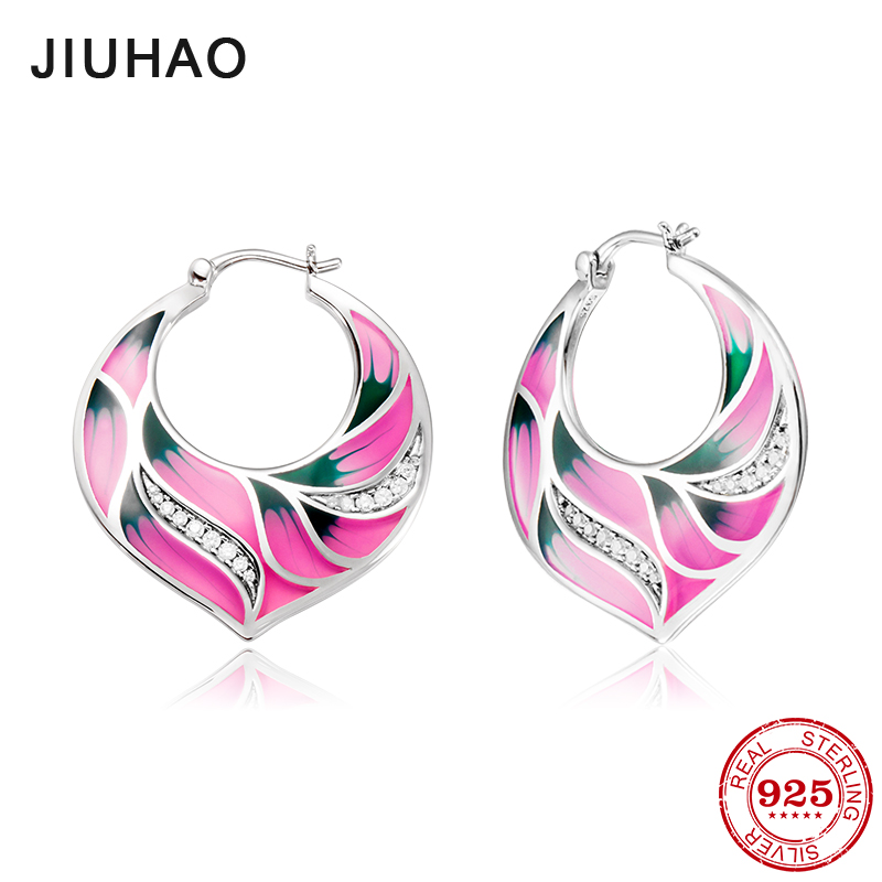 NEW like pink lotus for women 100% Authentic 925 Sterling Silver fashion CZ Dangle Earrings luxury Party Jewelry Enamel 100ml unblock print head nozzle for epson for brother for canon for dell for hp printer cleaner cleaning kit 100ml