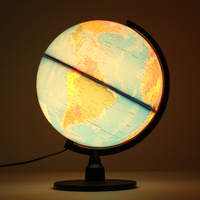 World Globe Terrestrial Earth Map with Stand LED Light terrestre Tellurion Home Decoration Office Ornament Children Gift Toys