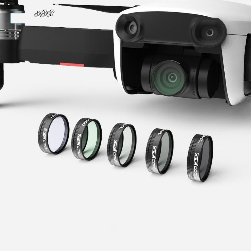3 unids/set Mavic aire Drone filtro (ND4 + ND8 + ND16) /(UV + ND8 + CPL) PL ajustar la densidad Neutral filtros para DJI Mavic aire Drone