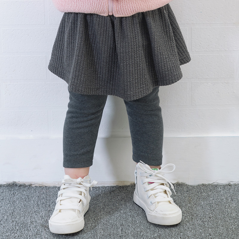 Toddler Sale Rushed Elastic Waist Mid Little Girls Baby Cute Cotton Floral Leggings Pants Autumn Spliced Skirt Kids Clothing