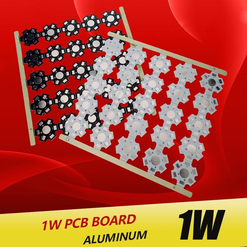 Купить с кэшбэком 1W 3W 5W LED Heat Sink Aluminum Base Plate PCB Board Substrate 20mm Star RGB RGBW DIY Cooling for 1 3 W Watt LED