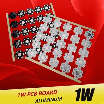 цена на 1W 3W 5W LED Heat Sink Aluminum Base Plate PCB Board Substrate 20mm Star RGB RGBW DIY Cooling for 1 3 W Watt LED