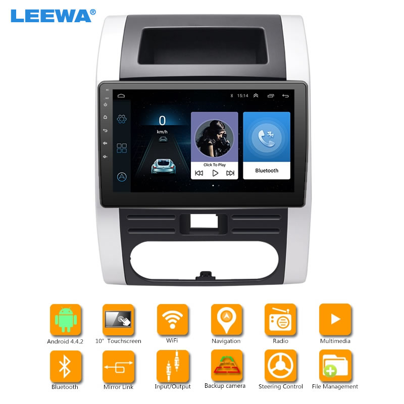 LEEWA 10.2inch Bigger HD Screen Android 6.0 Quad Core Car Media Player With GPS Navi Radio For Nissan X-Trail Second generation