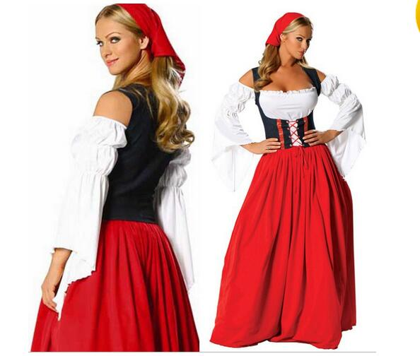FREE SHIPPING Womens Beer Maid Wench German Oktoberfest Costume plus size costume