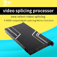 Video Wall Controller 2x2 HDMI DP Mobile Phone Signal Processor Four Images External Image Processor 4