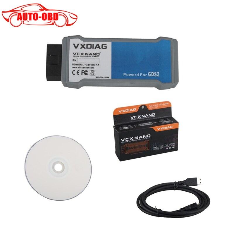 Prix pour Vxdiag vcx nano pour gm/opel multiples gds2/tis2web de diagnostic/programmation système fit pour win7 64bit et win8 64bit usb version