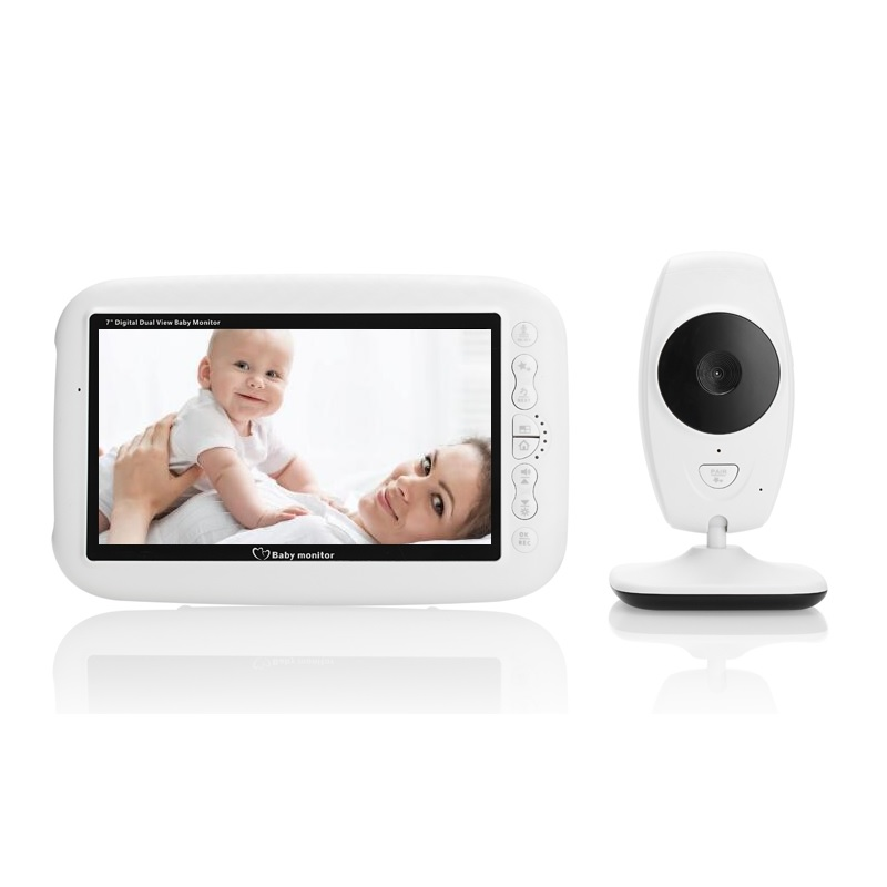 babykam baby monitor baby cam nanny 7.0 inch IR night light vision Intercom Lullaby Temperature Sensor baby monitor with camera