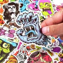 50pcs Terror Series Sticker Graffiti Skeleton Dark Funny Stickers for DIY Sticker on Travel case Laptop Skateboard Guitar Fridge