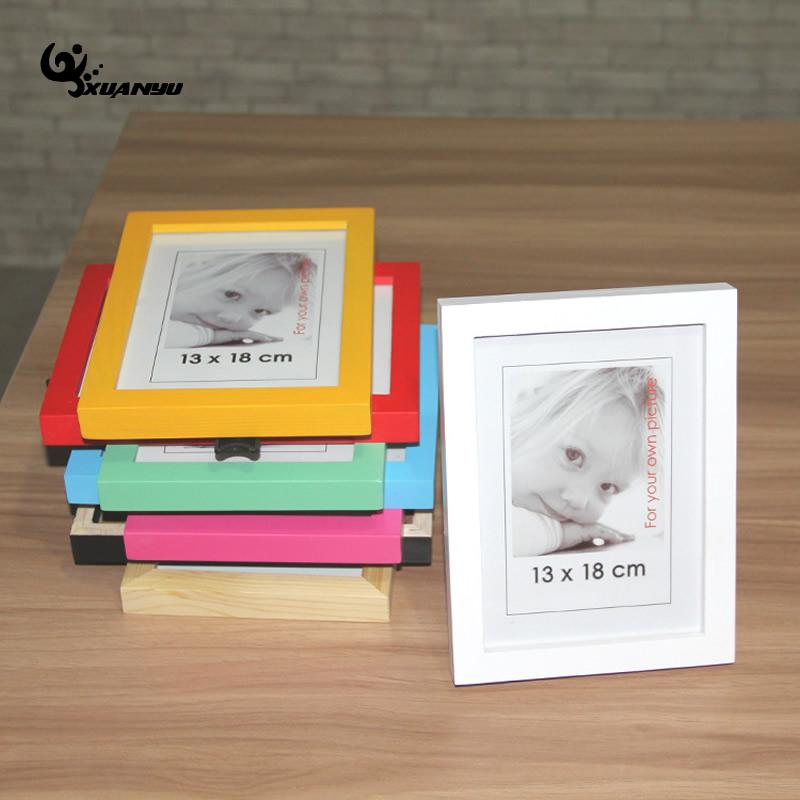 Solid Wood Photo Frame Picture Frames Tabletop Pure Color Rectangle ...