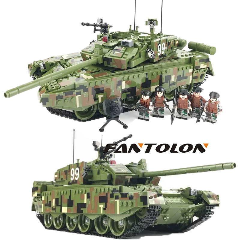 Main battle tank TYPE 99 MADE IN CHINA minitary army soldiers building blocks model sets Classic bricks children toys 1339pcs tumama 829pcs military blocks toy 8 in 1 warship fighter tank army soldiers bricks building blocks educational toys for children