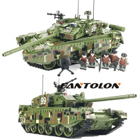 Main battle tank TYPE 99 MADE IN CHINA minitary army soldiers building blocks model sets Classic bricks children toys 1339pcs