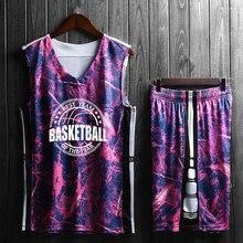 Мужские детские баскетбольные майки, набор, пустые мужские баскетбольные майки, форма для колледжа, тренировочные майки, костюмы на заказ