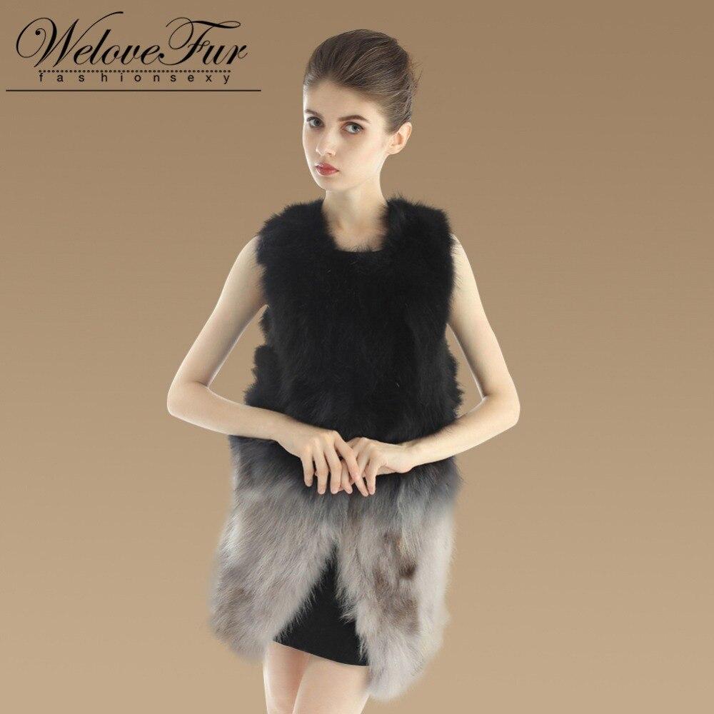Gilets Gilet Long Pour De Fourrure Naturel Raton Black Réel Laveur Dame Nouveau 2015 Mode Femmes AqwPc8xa