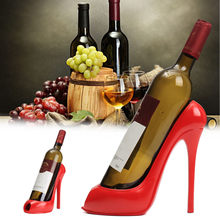High Heel Shoe Wine Bottle Holder Hanger Red Wine Rack Support Bracket Bar Accessories Table Decoration Modern Style(China)