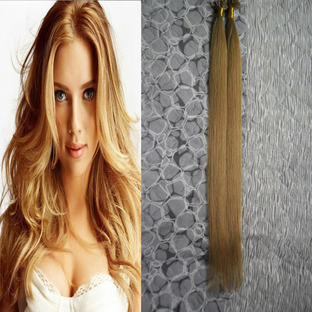 Brazilian Remy Hair Fusion Stick Tip Hair Extensions Capsule 100s