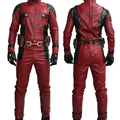 Xcoser 2016 New Movie Deadpool Costume Deadpool Superhero Wade Wilson Cosplay Outfit With Belt & Gloves Halloween Xcoser