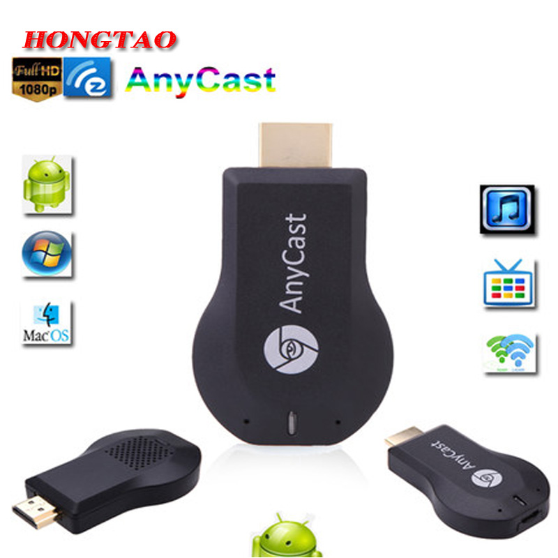 Media Player TV Stick Push Chrome cast Wifi Display Receiver Dongle Chrome Anycast Dl na Air play wifi display receiver dongle adapter hdmi streaming media player