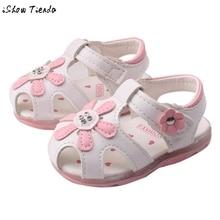 Подсолнечника освещенные подошве zapatos pattern сандалии принцесса малыша мягкой девушки обувь