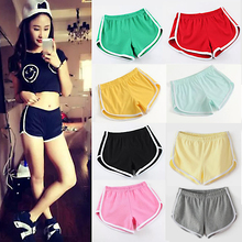 1PC New Hot Sale Summer 11Colors Free Size Elastic Waist Mid Solid Soft Casual Female Shorts