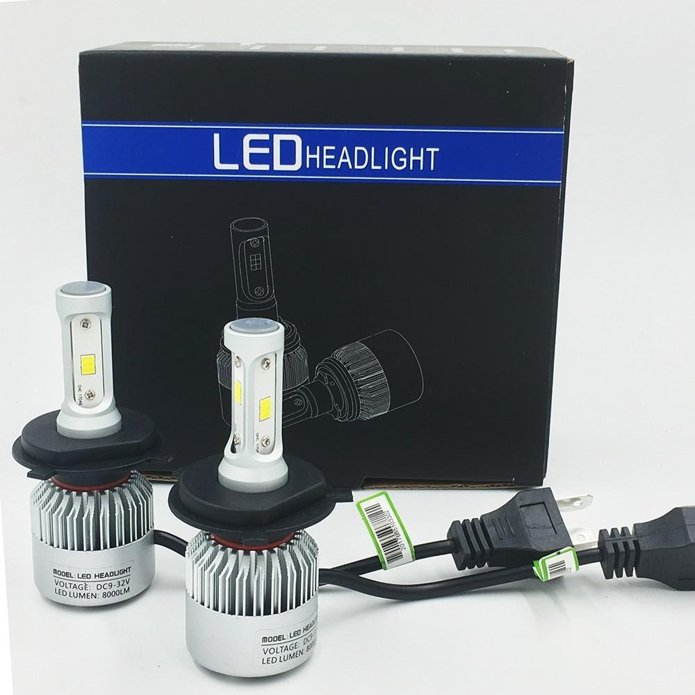 S2 Bulb H1 H3 H4 H7 H8 H9 H11 9005 9006 881 880 Car Headlamp Auto LED Lamp Car Headlights 12V 72W 8000LM Fog Lamp 2PCS/Lot