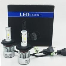 S2 Lâmpada H1 H3 H4 H7 H8 H9 H11 9005 9006 881 880 Farol do carro Auto Lâmpada LED Faróis Do Carro 12 V 72 W 8000LM luz de Nevoeiro 2 Pçs/lote