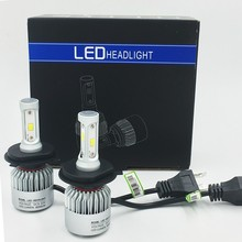 S2 Bulb H1 H3 H4 H7 H8 H9 H11 9005 9006  881 880 Car Headlamp Auto LED Lamp Car Headlights 12V 72W 8000LM Fog Lamp  2PCS/Lot