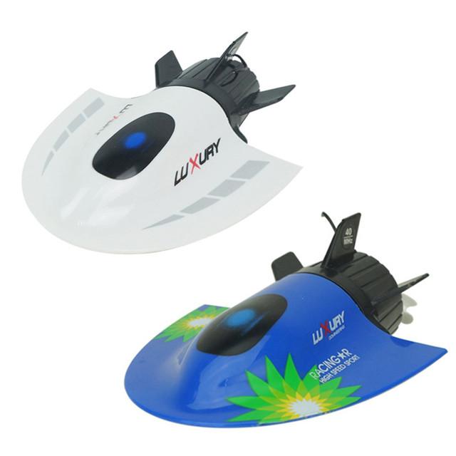 Barcos rc submarino radio control racing barco crear toys 3314 27 mhz muchachos de los niños de regalos