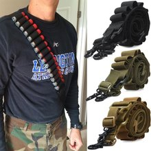 Tactische Schieten Verstelbare Gun Sling Strap System Shotgun Carrying 15 rd Pistool Bandjes System Paintball Gun Sling Airsoft Jacht(China)