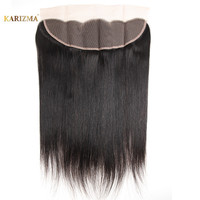 Karizma Brazilian Straight Hair Lace Frontal Closure 13x4 Swiss Lace Ear To Ear Remy Human Hair