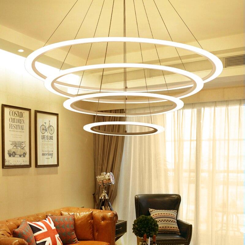 Moderno LED lustre luces colgantes para sala de estar comedor AC110 ...