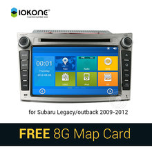 IOKONE Car DVD Video Player GPS navi Stereo multimedia for Subaru Legacy/Outback 2009-2012 With Bluetooth SWC iPOD 8G SD card