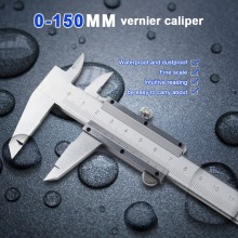 0-150mm Vernier Caliper Stainless Steel Vernier Caliper Inner and Outer Diameter High Precision Measuring Tool  0.03mm Accuracy waterproof digital caliper high precision stainless steel vernier caliper 0 150mm
