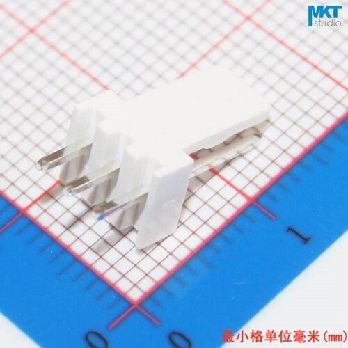 100Pcs KF2510 2.54mm Pitch 3P PCB Male Box Header Bar Connector, Pin Header Socket On PCB
