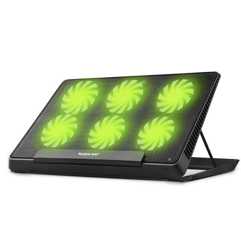 Plaquettes de refroidissement d'origine pour ordinateur portable H8 6 ventilateurs 6 vitesses réglage de la hauteur 2 ports usb refroidisseur d'ordinateur portable support pour ordinateur portable de 12-17 pouces