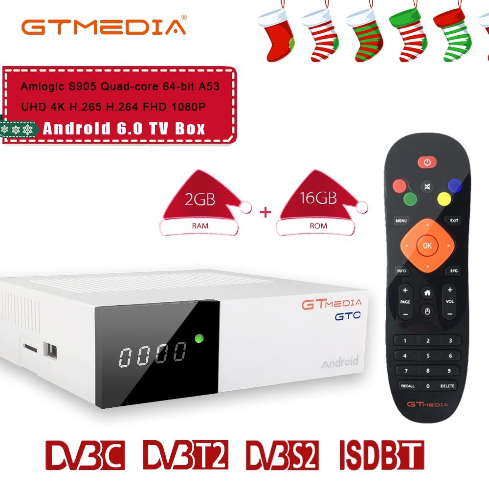 Freesat GTC DVB-T2 DVB S2 DVB C Recettore Decoder Satellitare supporto full HD BISSkey Powervu 4 K Ricevitore Satellitare TV box cccam