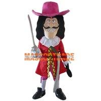 Капитан Крюк Маскоты костюм для взрослых Размеры нарядное платье наряд для вечеринки