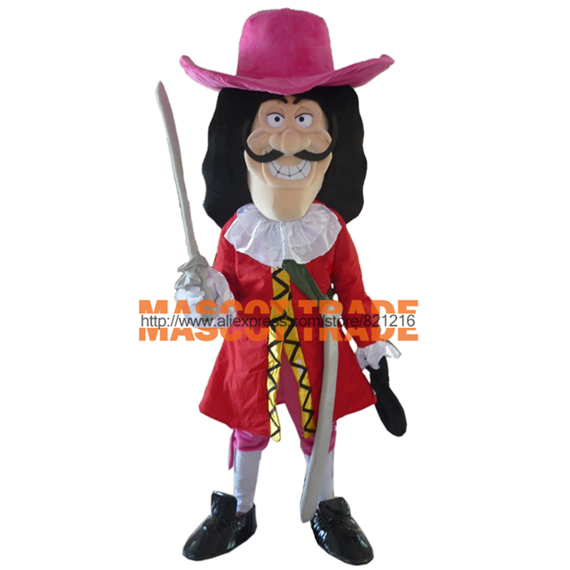 Captain Hook Mascot Costume Adult Size Fancy Dress Party Outfit