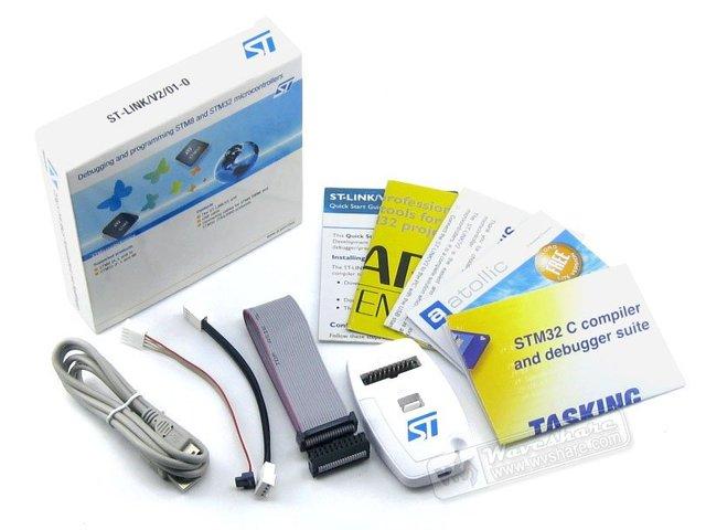 Original ST-Link V2 Stlink St Ligação V2 Stlink STM8 STM32 MCU USB JTAG Depurador In-circuit/programador/Emulador Freeshipping