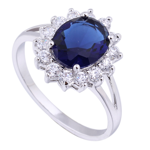 luxury british kate princess diana william engagement ring with plate crystal wedding rings for women - Princess Kate Wedding Ring