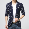 2016New Designer Men's Clothing Striped Joker Youth Slim Single Button Long Sleeved Cotton Male Leisure Mens Blazer Freeshippin