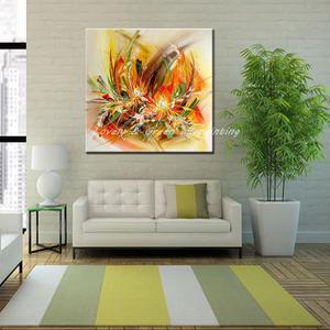 Image 5 - Mintura Modern sanatçı el boyalı soyut çiçekler tuval üzerine yağlıboya duvar tablosu duvar resmi oturma odası için ev dekor
